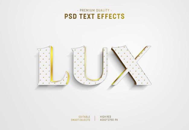 Luxus-textstil-effekt