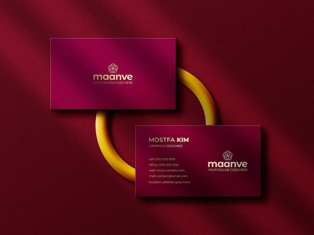 Luxus- und modernes logo-modell auf horizontaler visitenkarte