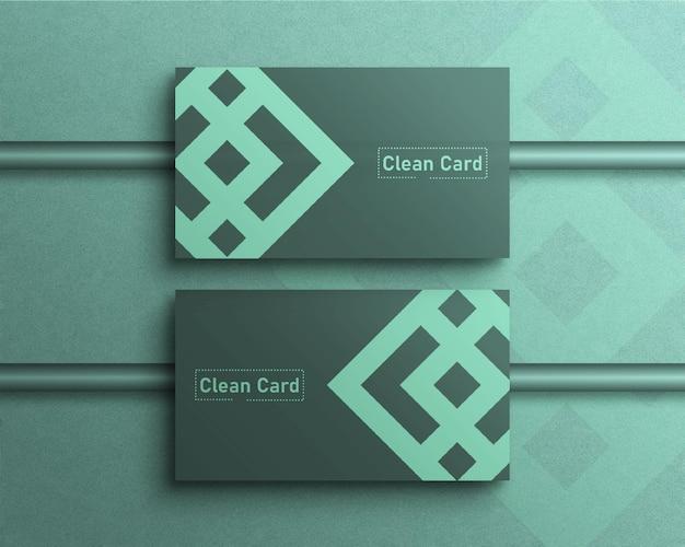 Luxus und sauberes visitenkartenmodell mit draufsicht