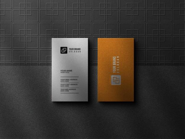 Luxus-visitenkarte mit logo-modell