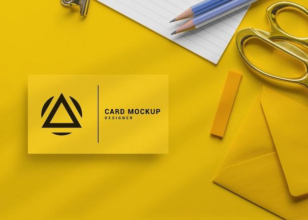 Luxus-visitenkarten-mockup-design