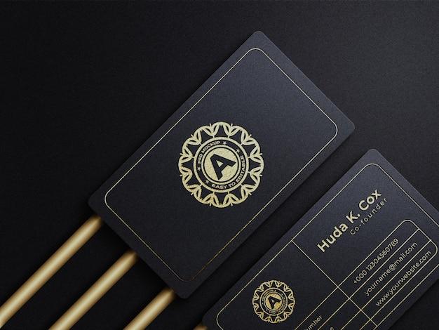 Luxus-visitenkartenmodell mit prägeeffekt