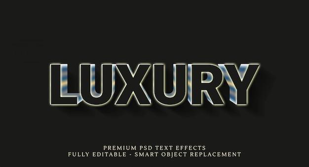 Luxusgoldtexteffekte lokalisiert auf schwarzem