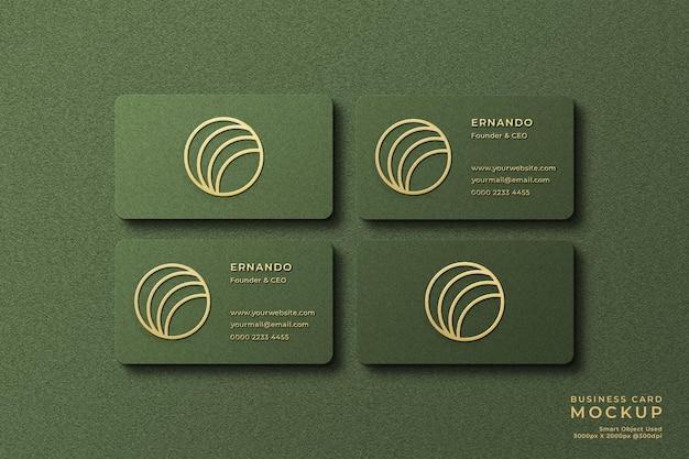 Luxuslogomodell auf horizontaler visitenkarte