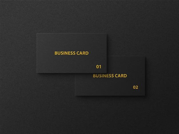 Luxuslogomodell auf schwarzer visitenkarte