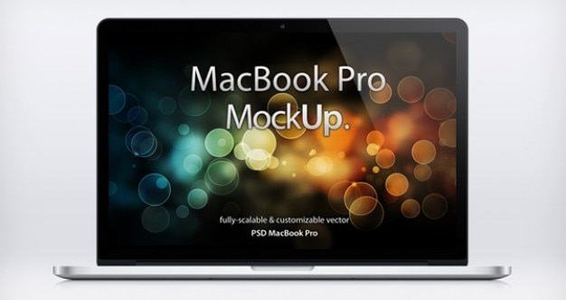 Mac laptop mockup