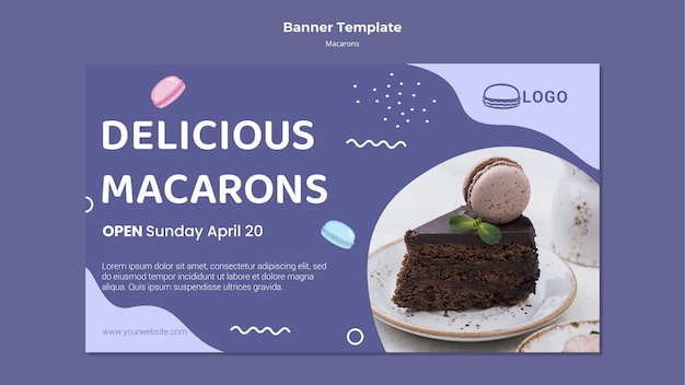 Macarons konzept-banner-vorlage