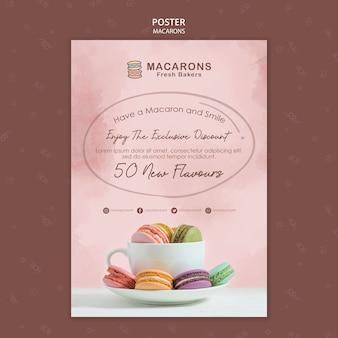 Macarons konzeptplakatschablone