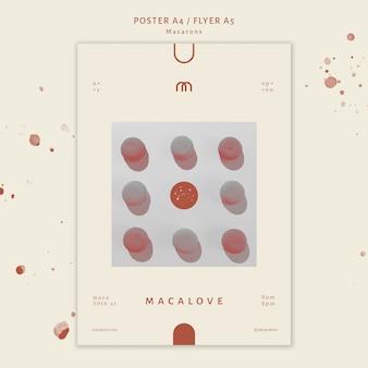 Macarons shop vorlage poster