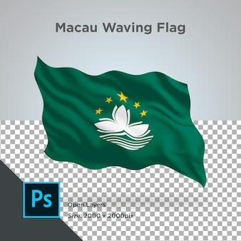 Macau flag wave design transparent