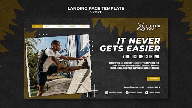 Machen sie sich fit landing page template