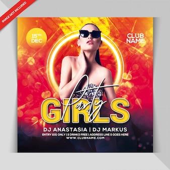 Mädchen party flyer