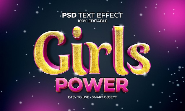 Mädchen power texteffekt