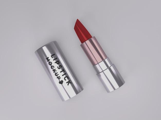 Mädchen premium-lippenstift-mockup-design