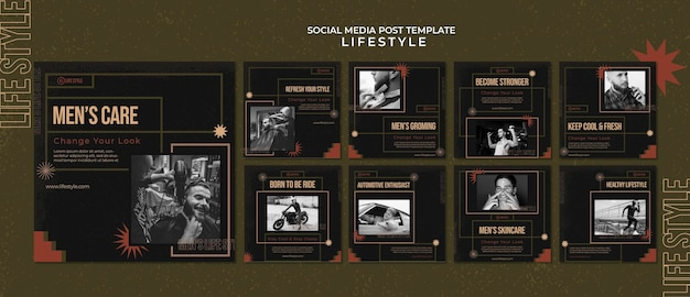 Männer interessieren sich für social-media-beiträge