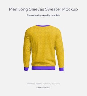 Männliches sweatshirt mit langen ärmeln mockup