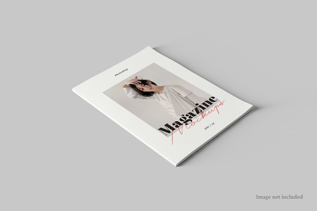 Magazin cover mockup perspective view