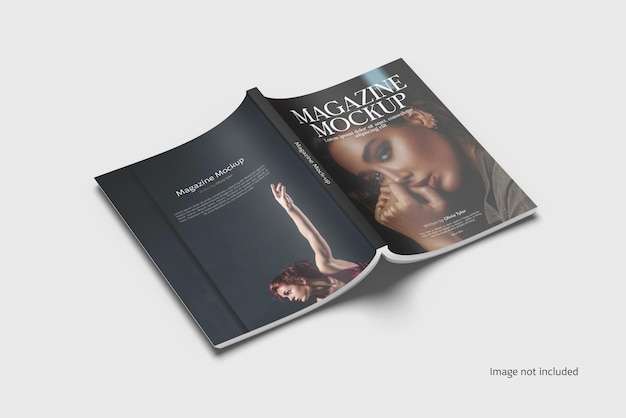 Magazin-cover-mockup-rendering isoliert