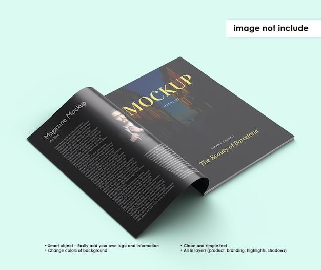 Magazin mockup design isoliert