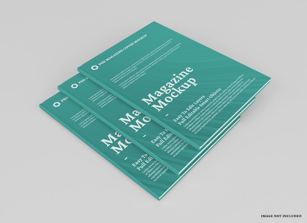 Magazin-mockup-design isoliert