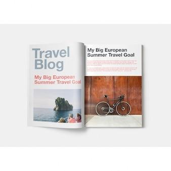 Magazine mock-up-design Kostenlosen PSD