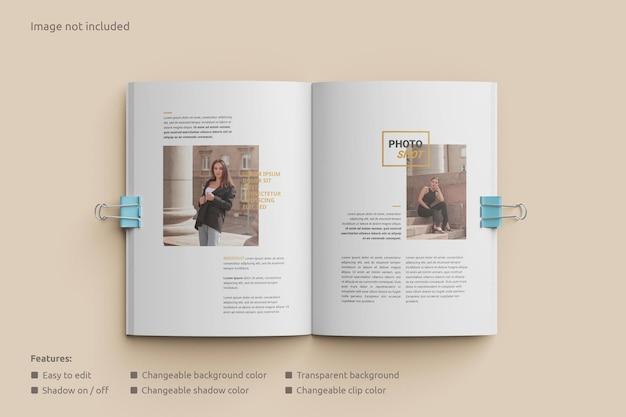Magazinmodell geöffnet mit clip-draufsicht