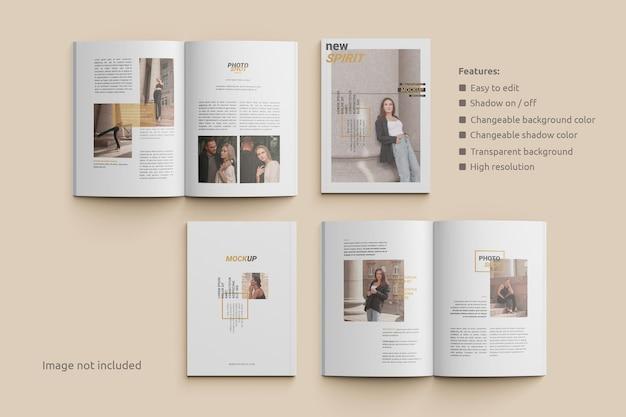 Magazinmodell öffnen und draufsicht abdecken