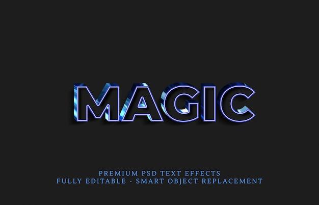 Magischer stileffekt, premium-texteffekte