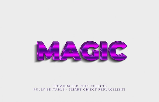 Magischer textstil-effekt