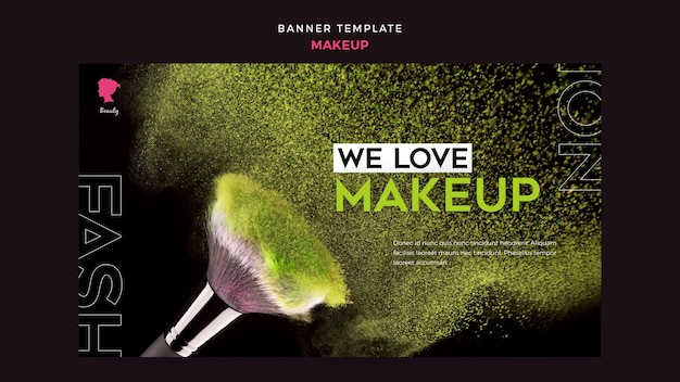 Make-up-banner-vorlagenstil