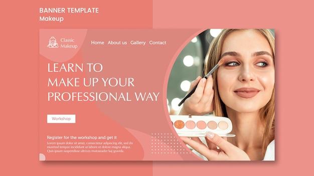 Make-up konzept banner vorlage