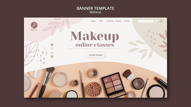 Make-up konzept banner vorlage