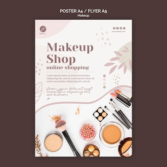 Make-up konzept flyer vorlage