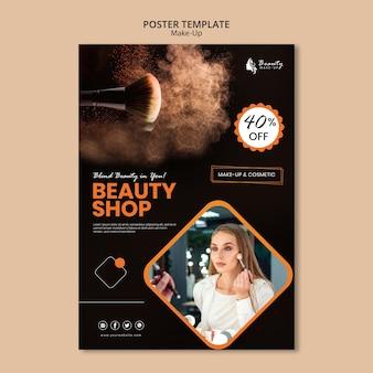 Make-up konzept poster design