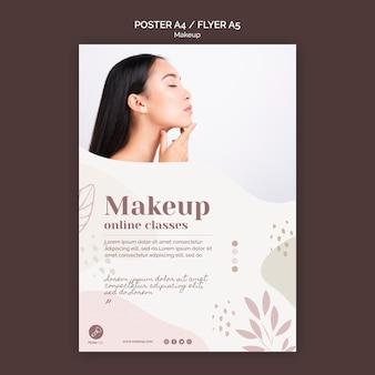 Make-up konzept poster vorlage