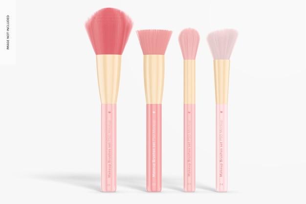Make-up pinsel set mockup, vorderansicht