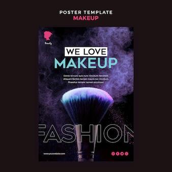 Make-up poster vorlage design
