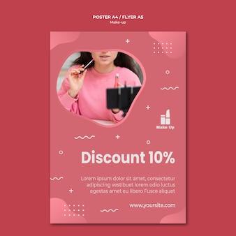 Make-up produkte flyer vorlage mit foto