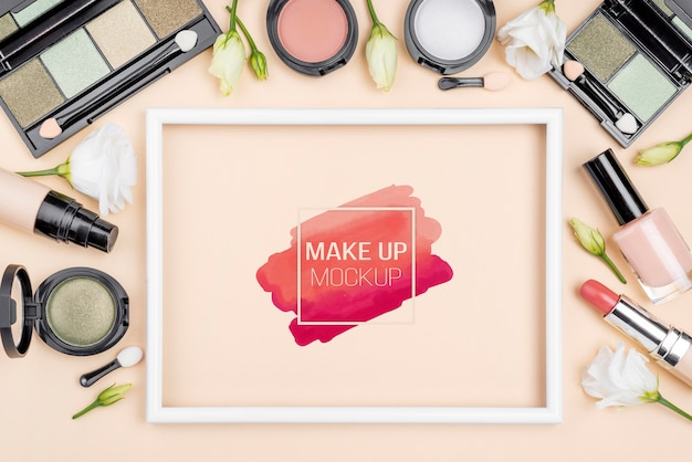 Make-up-sortiment von oben