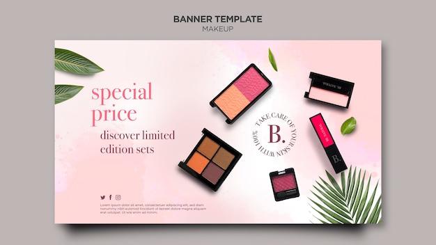 Makeup horizontale banner vorlage stil