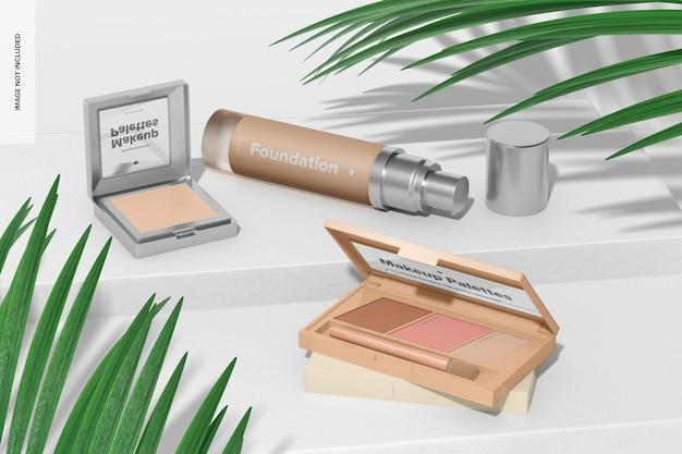 Makeup paletten szene mockup