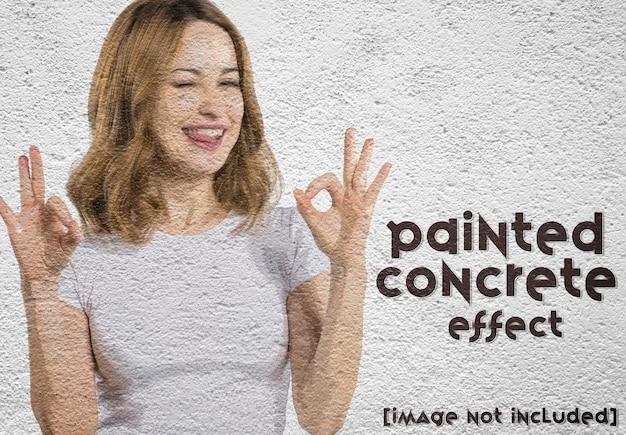 Malen sie fotoeffekt an eine wand