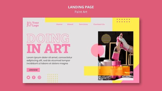 Malen sie kunstkonzept-landingpage-vorlage