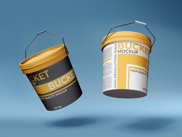 Malen sie plastic bucket mockup template