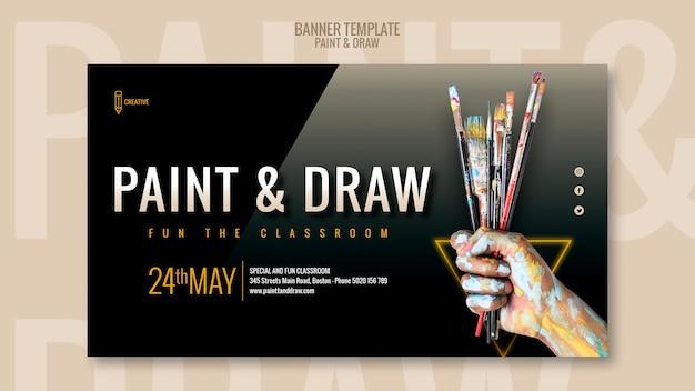 Malen und zeichnen sie klassenzimmer banner