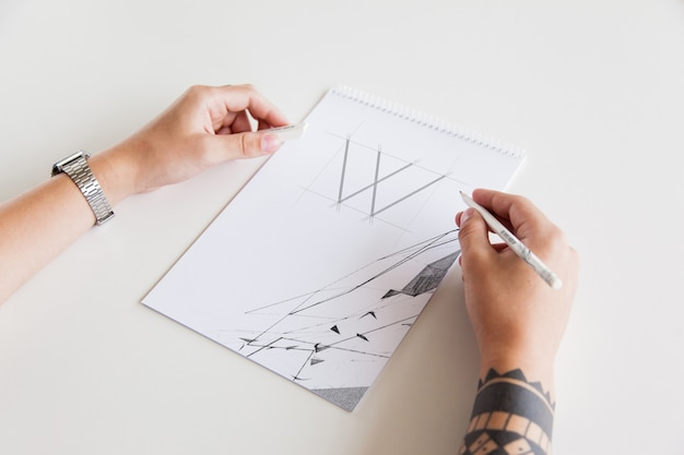 Maler hand mock-up