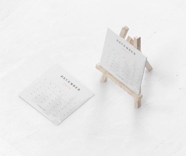 Malerei miniaturunterstützung für kalender verwendet