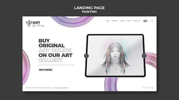 Maling galerie landingpage vorlage