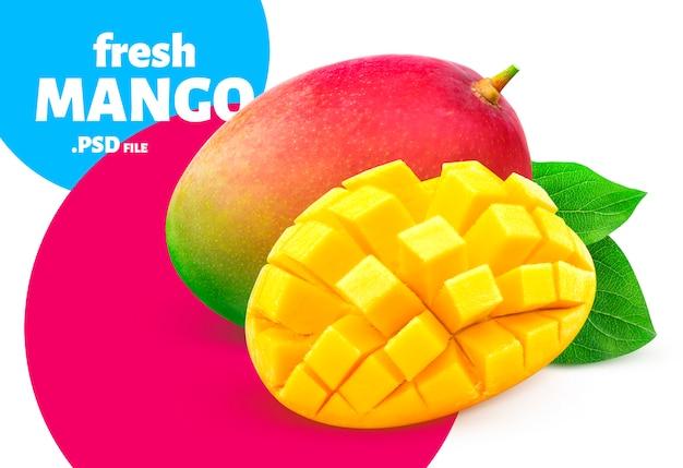 Mango isoliert, fruchtdesign für verpackung