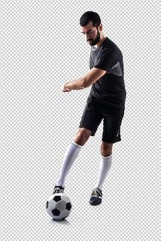 Mann, der fußball spielt